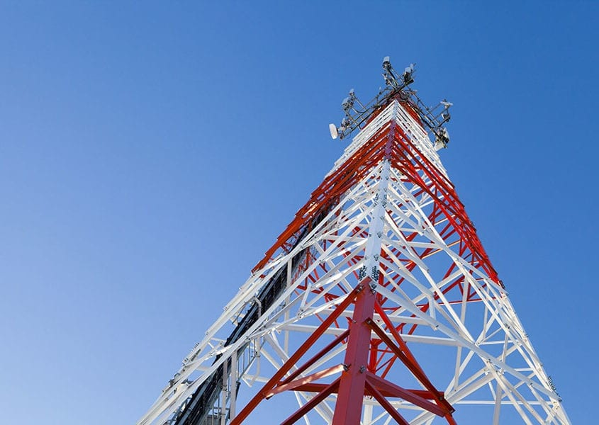 communications tower wind speed anemometer