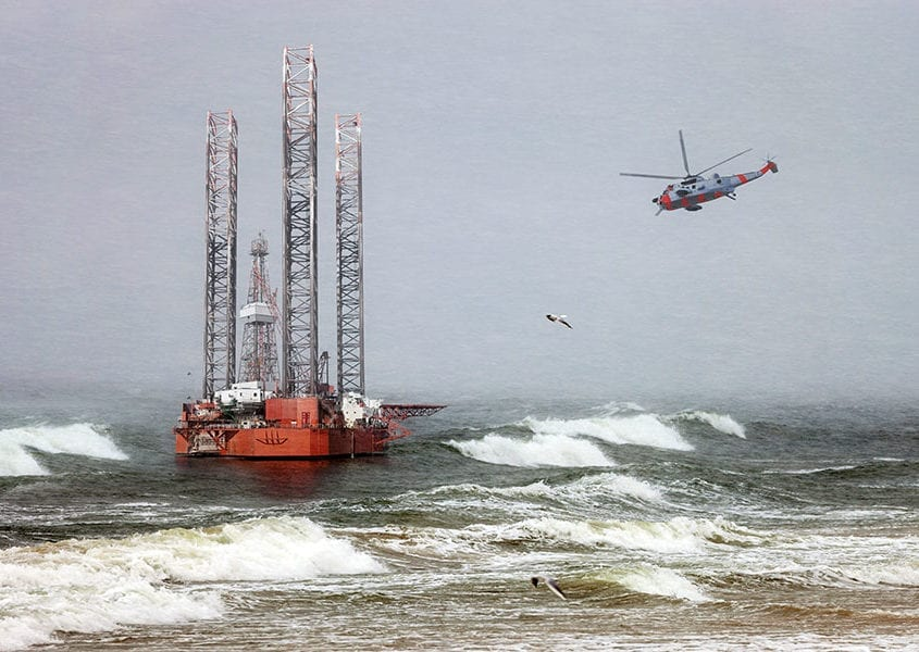 offshore marine industry high wind risk control