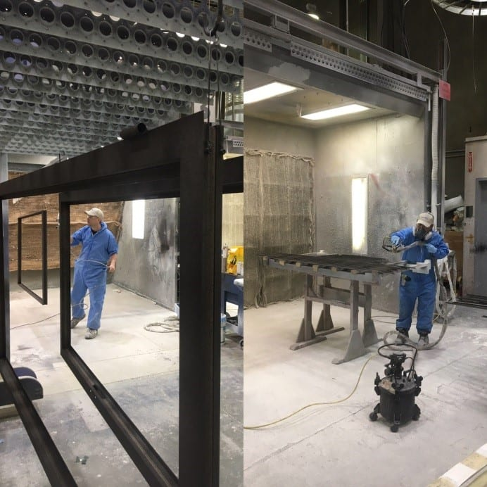 Bronze Coating at Dynamic Architectural Windows and Doors Factory