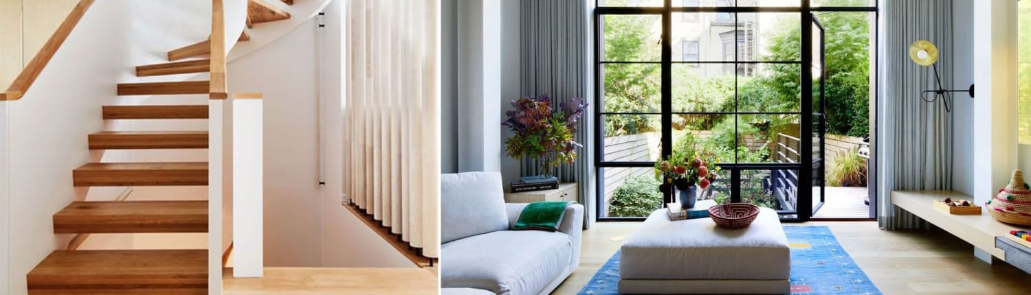 Brooklyn rowhouse with a modern window update