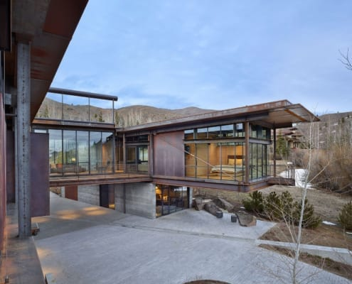 Cantilever style modern home - Bigwood Residence