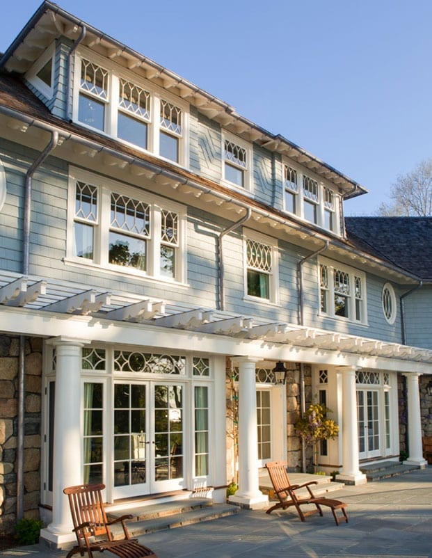 Traditional architectural shaped windows