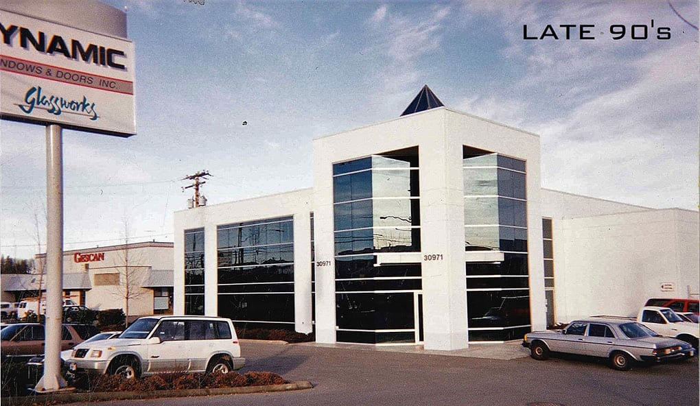 Dynamic Windows & Doors Abbotsford location in the late 90's
