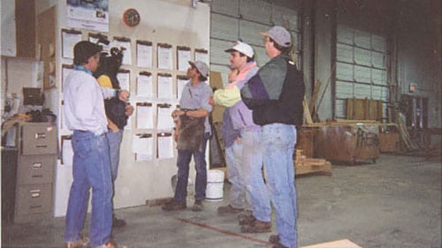 Discussing a window project - mid 90s