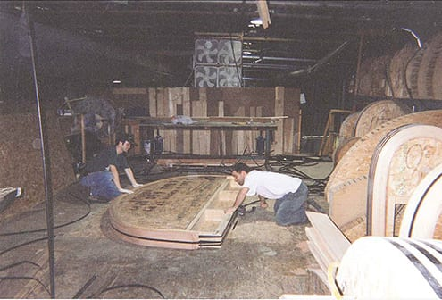 Strapping a custom window into shape - mid 90's